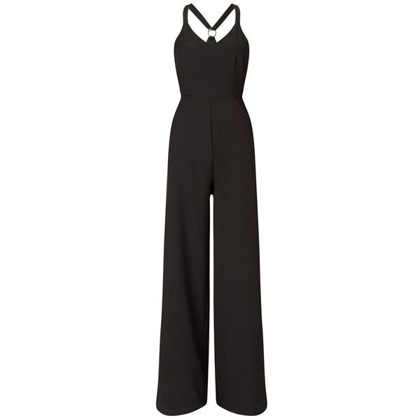 Fashion Union Racer Back Jumpsuit ($40) ❤ liked on Polyvore featuring jumpsuits, lipsy jumpsuit, jump suit and lipsy
