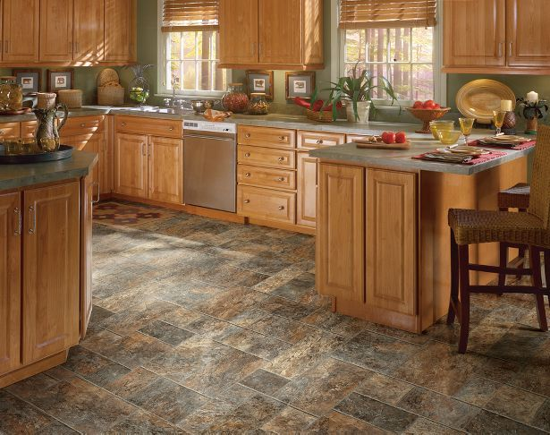 Logan Falls - Sailors Delight by Armstrong. Vinyl floors can work in any kitchen, bathroom or laundry room.