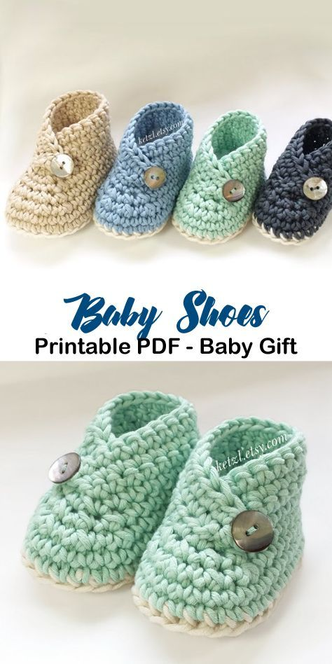 Make a cute pair of baby booties, for a boy or girl. baby shoes crochet patterns…  – Yarn :)