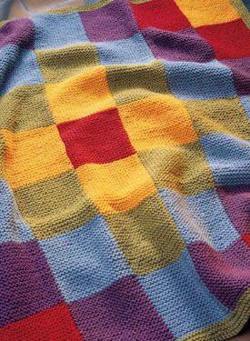 Rowan Knitting Pattern Baby Blanket : FREE PATCHWORK THROW KNITTING PATTERN - VERY SIMPLE FREE ...
