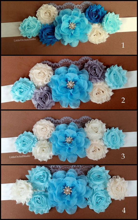 It's a BOY/ Elegance Maternity Sash/ Blue Sash/ Ivory Sash/ Belly Sash/ Growing Bump/ Couture Sash/ Shabbystyle/ Gender Reveal/ BOY by LittleOrchidStudio available on ETSY