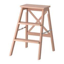 BEKVÄM Stepladder, 3 steps, beech - 63 cm - IKEA