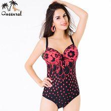 2017 Queenral Swimwear large size Bras one piece bra Women bra female bathing suit one piece lingerie for women Swimsuit