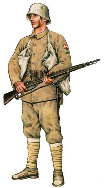 Szeregowy oddziałów szturmowych armii tureckiej 1918
