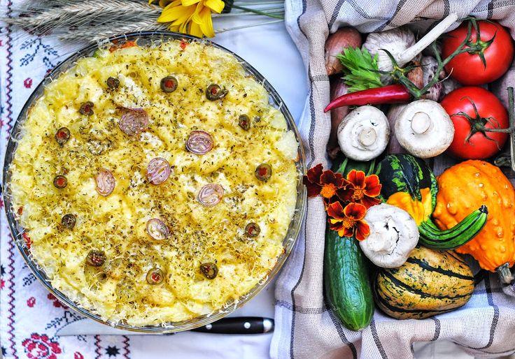 Vegetanie - wegetariańskie przepisy, tanie i szybkie dania domowe, warzywa w kuchni: Wegetariańska zapiekanka ziemniaczana :)