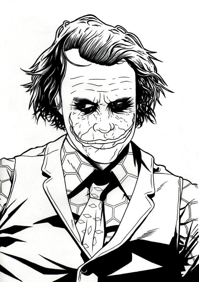 joker drawing pencil easy drawings face artwork desenhos dessins pen batman harley sketches outline coringa dc dibujos arte crayon dessin