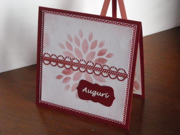 """biglietto compleanno - con la fustella """"La Coppia Creativa"""" ho realizzato uno stencil http://www.lacoppiacreativa.com/blog/"""