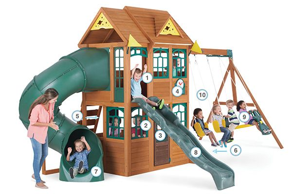 Charleston Lodge - Products | Big Backyard Play Set