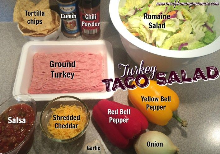 turkey taco salad ingredients