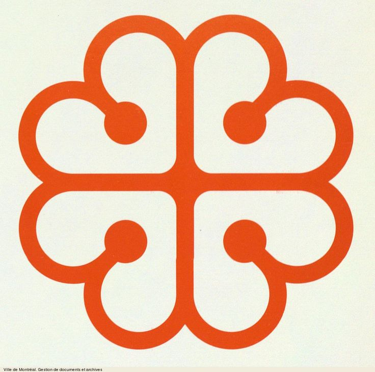 City of Montreal logo, by Georges Huel 1981