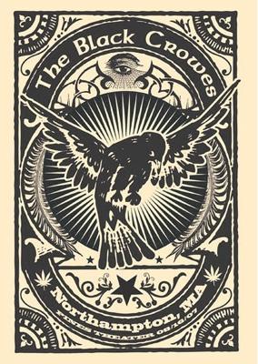 The Black Crowes #woodcut #blackandwhite #illustration