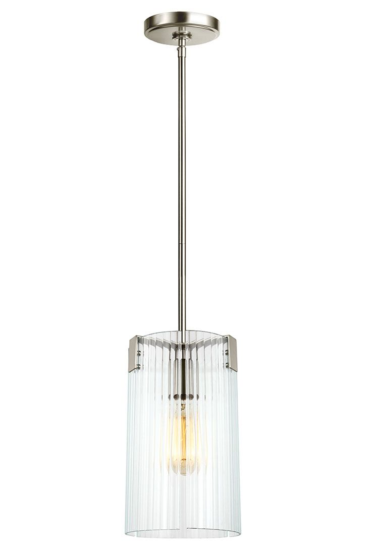 Dabney corner shaker double vanity distressed vinish - Storey 1 Light Mini Pendant By Sea Gull Lighting Refined Uptown Industrial