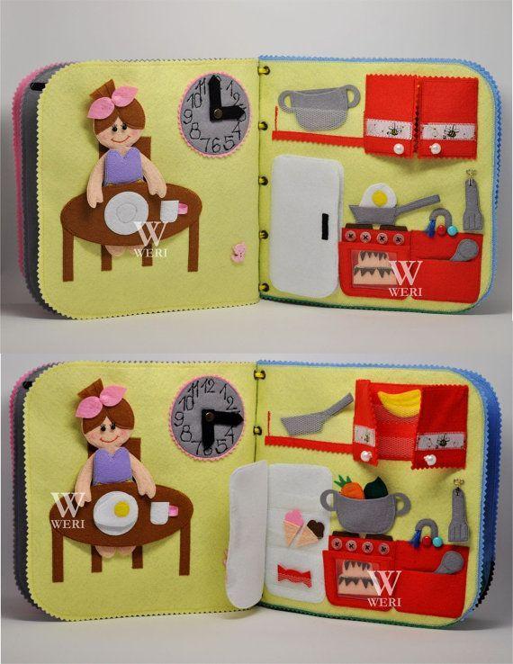 Sofort versandfertig / Dollhouse Quiet Book / 10 Seiten / von WeriBeauties   – Kids