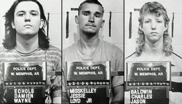 In West Memphis, Arkansas, the butchered bodies of three local boys were found on the banks of a creek. The positioning and mutilation of the bodies led the police to believe that it was part of a satanic ritual. Authorities and townsfolk quickly turned their attention on three local teenagers, who liked to wear black and listen to heavy metal music. The real killer was never found.