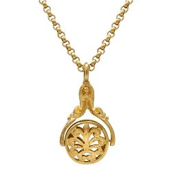 9ct Yellow Gold Necklace with Spinner Pendant