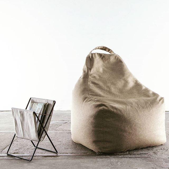 Puskupusku Beanbag Minimal Nordic Concrete Design Photoshoot Play