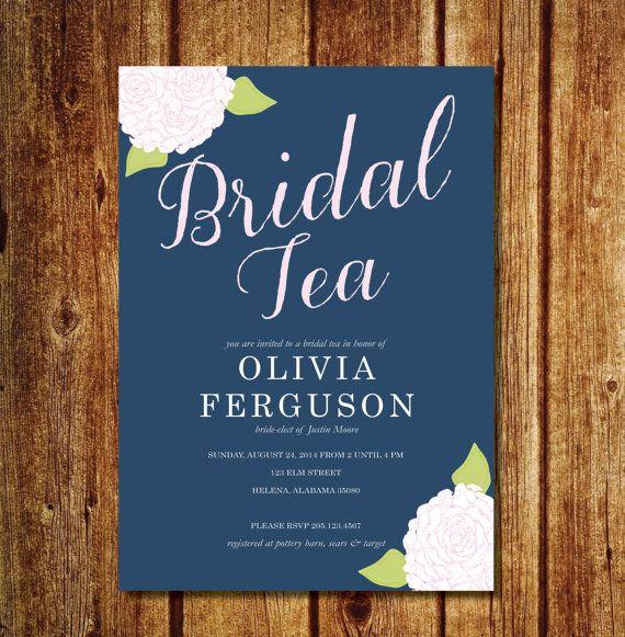 Hydrangea Bridal Tea Invitation