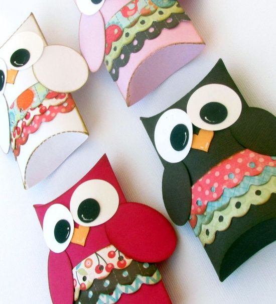 Girl Owl Pillow Gift Boxes Set of 12 Baby by DomesticDivaBBG