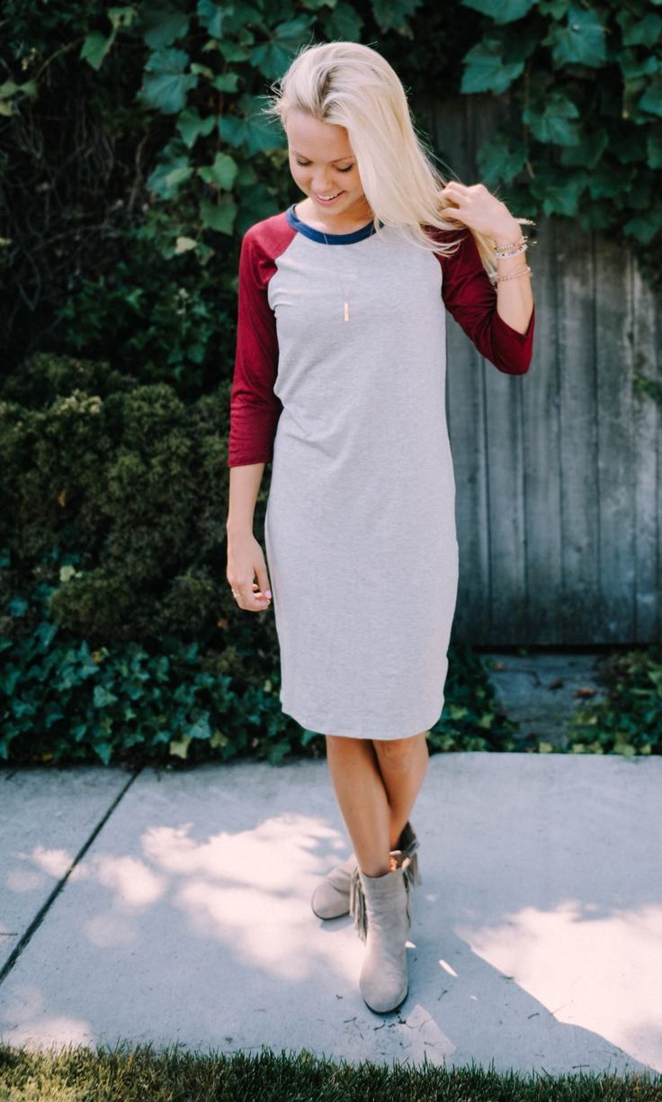 We are in LOVE with these Baseball Dresses! Perfect for that on the go mom that needs a quick and easy go to dress! Its basically a must have for every closet!
