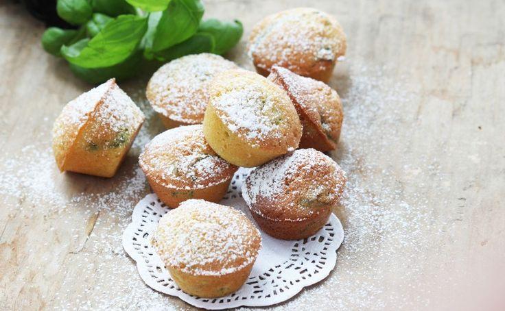 Mini babeczki bazyliowe z mąki jaglanej | Ania gotuje