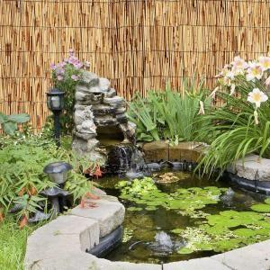 L Natural Reed Bamboo Garden Fence. Bamboo Garden FencesHome Depot