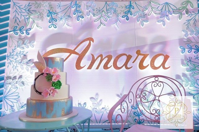 Amara's The Road Less Traveled Nature Inspired Party - Cake