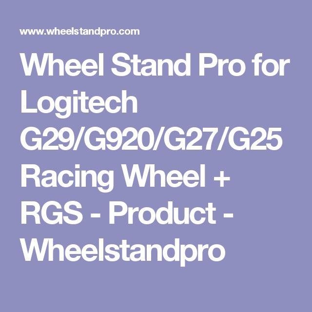 Wheel Stand Pro for Logitech G29/G920/G27/G25 Racing Wheel + RGS - Product - Wheelstandpro