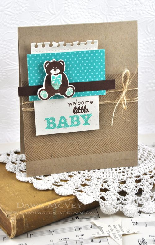 Welcome Little Baby Card by Dawn McVey for Papertrey Ink (May 2013)