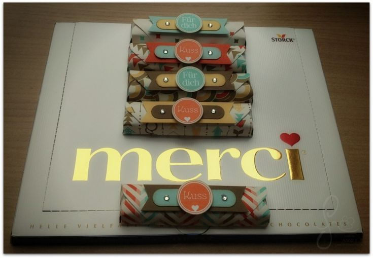 Merci einzeln schnell verpackt – Anleitung für das Envelope Punch Board: Ausgangspapier 9,1cm x 9,1cm,