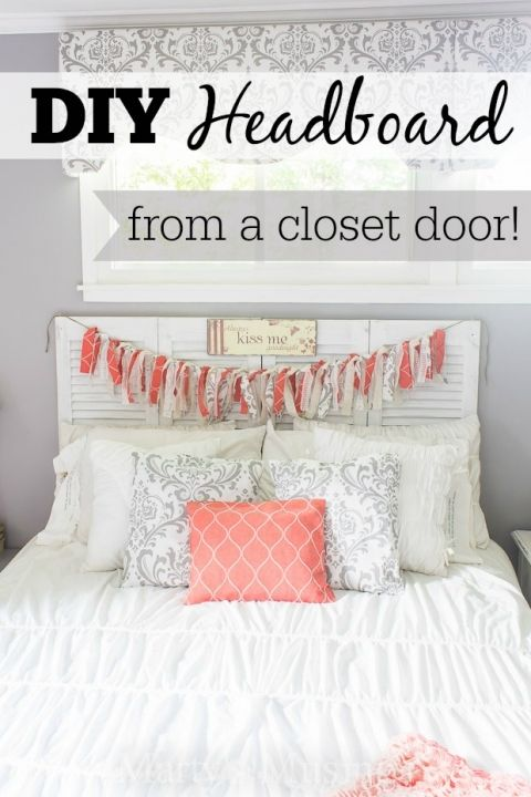 rainbow flip flops warranty Wait until you see this DIY headboard from Marty  39 s Musings transformed from an old louvered closet door into a chalk painted and distressed shabby chic beauty