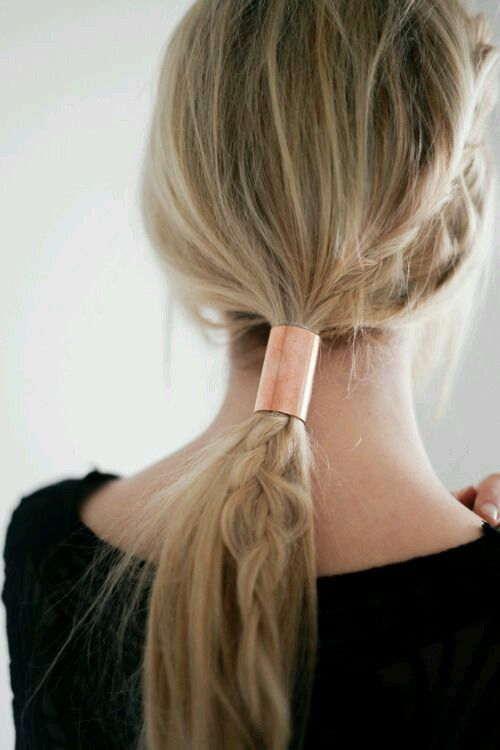 2 in 1: braid + ponytail hairstyle.