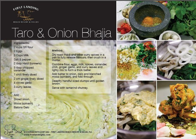 Bhajia recipe card