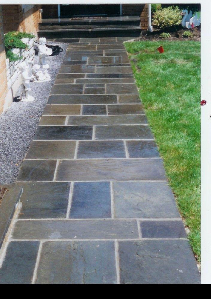 Best 25 slate walkway ideas on pinterest lighting for for Blue slate garden designs