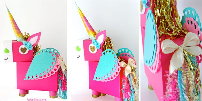 This Unicorn Valentine Card Box DIY projectis a fun whimsical twist on a classic valentines card holder! It's fun to make with only a few basic supplies.