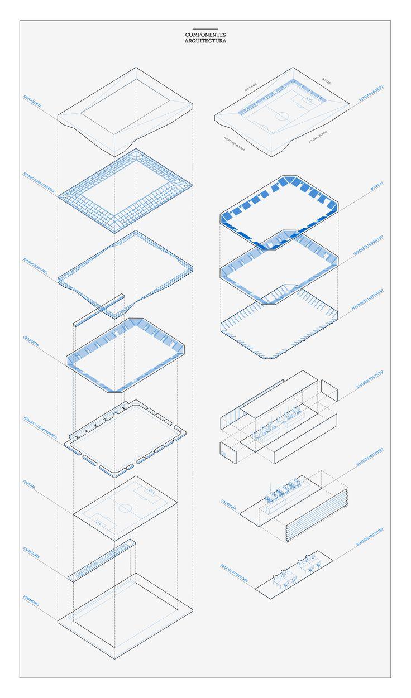 Galería - Rojas Böttner + Gajardo + Soto, primer lugar en concurso de ideas para nuevo estadio de Osorno en Chile - 7