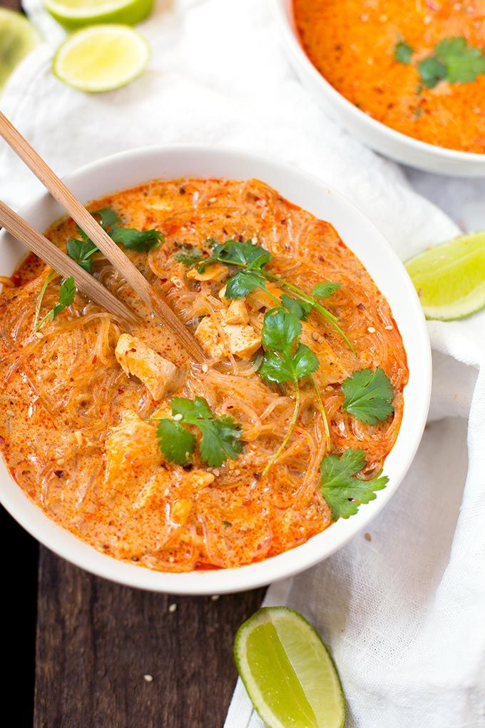 20-Minuten Thai Salmon Soup