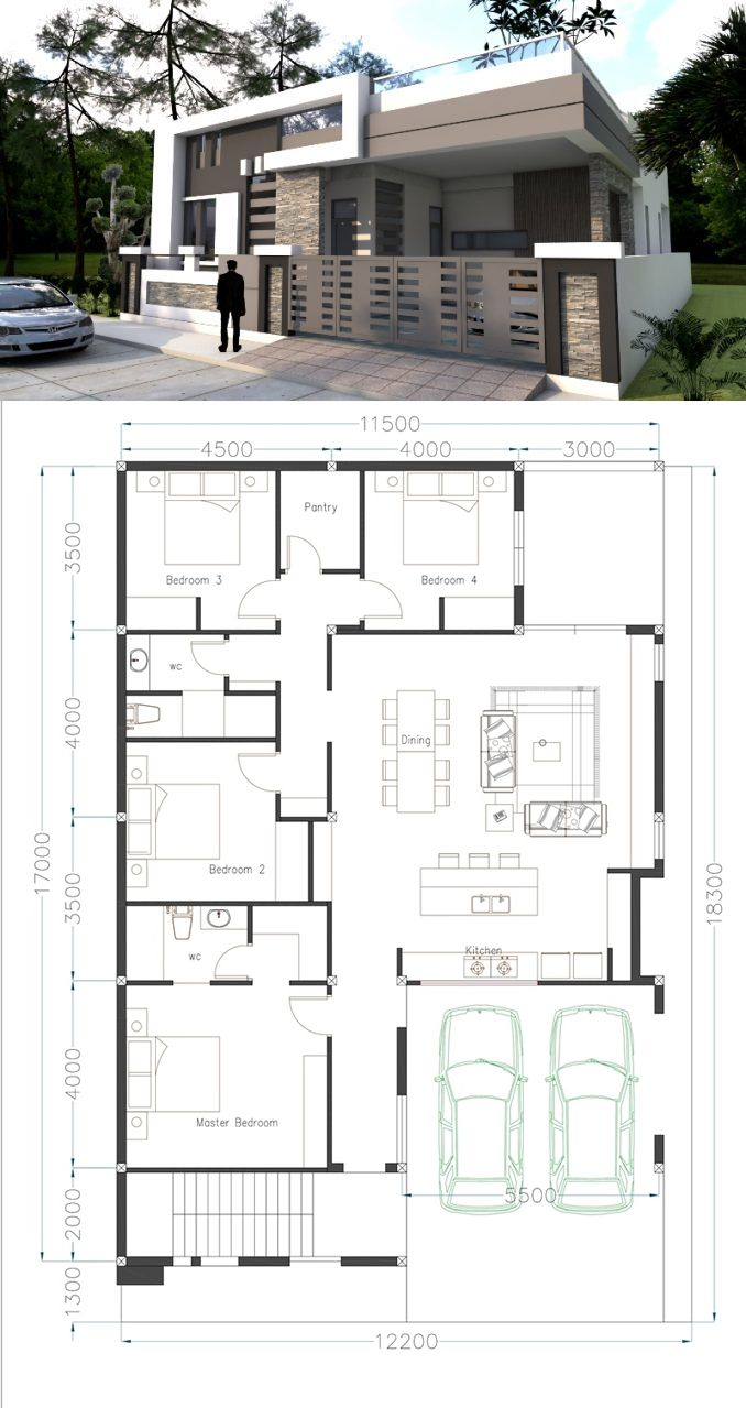 Floor Plan Small House With Roof Deck