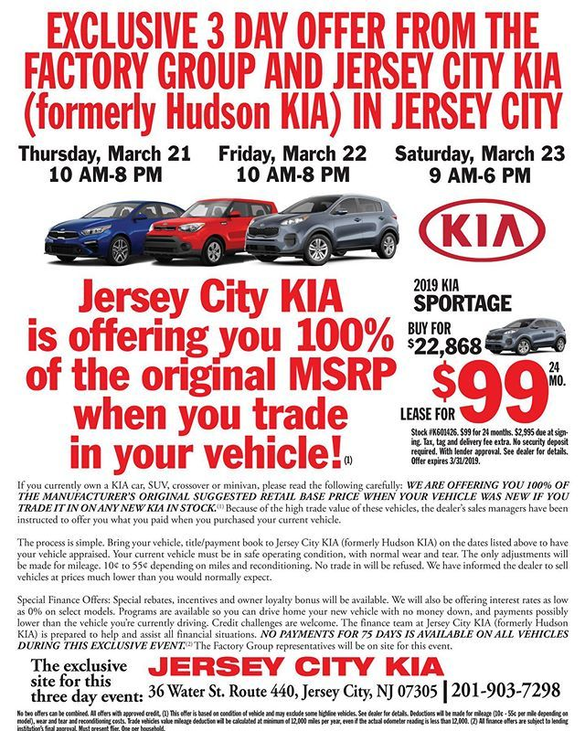 Big Weekend Ahead Kiajerseycity With Opportunities To Upgrade Your Ride Do Not Wait For The Weekend When You Can Get Jersey City Kia Sorento Cars And Coffee