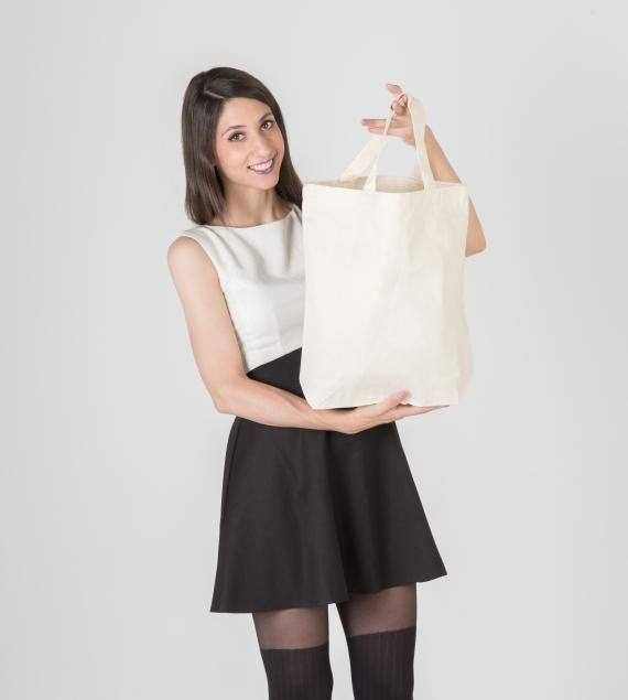 Bolsas de algodon con asa corta #bolsastela #algodon