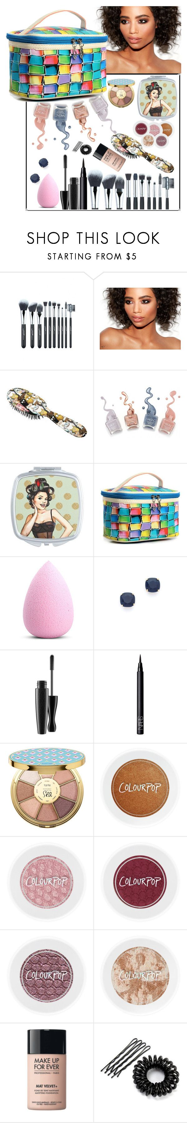 """""""Untitled #583"""" by cordelia-fortuna ❤ liked on Polyvore featuring beauty, Rock & Ruddle, My Makeup Brush Set, Kate Spade, NARS Cosmetics, tarte and MAKE UP FOR EVER"""