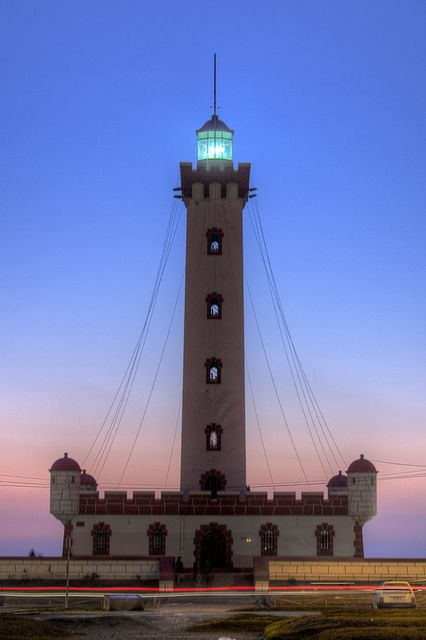 La Serena Lighthouse. The monument blends the features of a lighthouse and a colonial Spanish fort. On the first level, there are four projections in each corner designed as bulwarks and a great canyon facing the Pacific Ocean. On the second level, there is a fortification with protected guard placements at each corner. The tower holds the headlamp and the upper balcony topped with battlements. The structure was declared a National Monument on July 9, 2010. [Flickr - Photo Sharing].