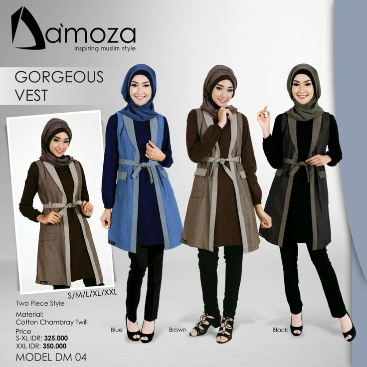 """New Model"" Tunik Damoza 04 Tunik Muslim Dewasa Persembahan Damoza dengan bahan Cotton Chambray Twill Tebal, halus, lembut dan adem, Tersedia 2 pilihan kombinasi warna:  1. Blue 2. Brown 3. Black"