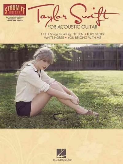 (Strum It (Guitar)). This folio features authentic chords, strum patterns, melody and lyrics for 17 complete songs, all in their original keys! Includes these Taylor Swift favorites: Back to December