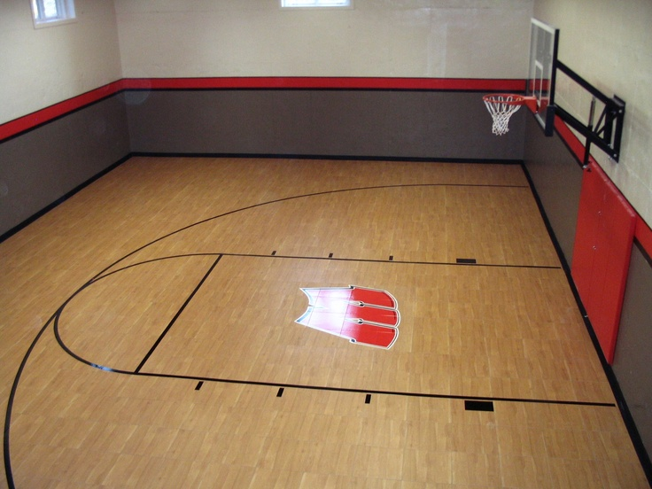 10 best sport court home gyms images on pinterest gym for Basement sport court