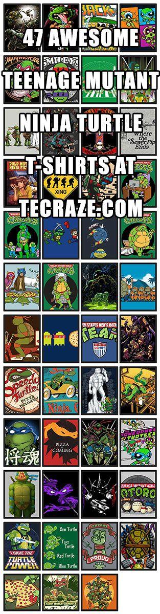 47 Awesome Teenage Mutant Ninja Turtle T-Shirts http://teecraze.com