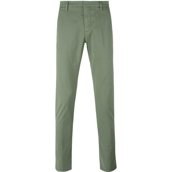 Dondup classic chinos ($150) ❤ liked on Polyvore featuring men's fashion, men's clothing, men's pants, men's casual pants, green, mens chino pants, mens green pants, mens green chino pants and mens chinos pants