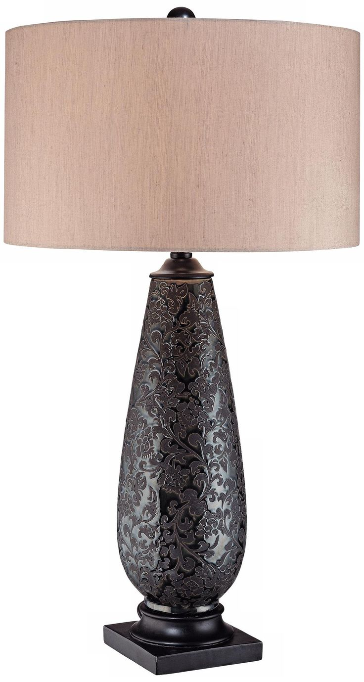 Bronze and silver table lamp ambience accent lamp table lamps lamps - Ambience Collection Bronze Lace Table Lamp