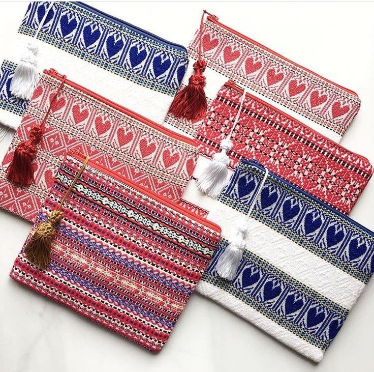 All of our vibrant handmade clutches are in stock! From the folklore pattern to blue hearts, all patterns are made from stunning woven material.  Check out our tote and clutch collection for more patterns | Obsess, collect and discover hidden treasures at Uppermoda | Independent fashion from Croatia | Free Shipping in Australia  ❤️ Repin to your own inspiration board