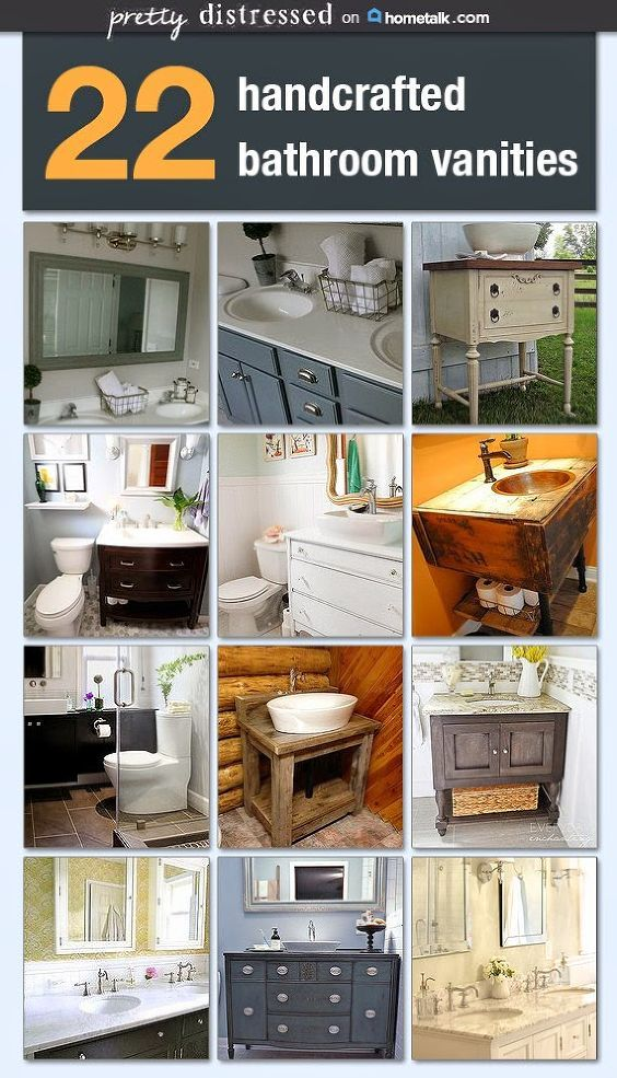 Bathroom Vanity Inspiration Idea Box By Pretty Distressed Diy Bathroom Vanity Custom
