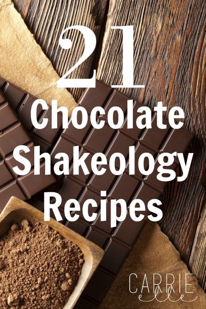 21 Chocolate Shakeology Recipes - lots of great ways to enjoy your Shakeology!